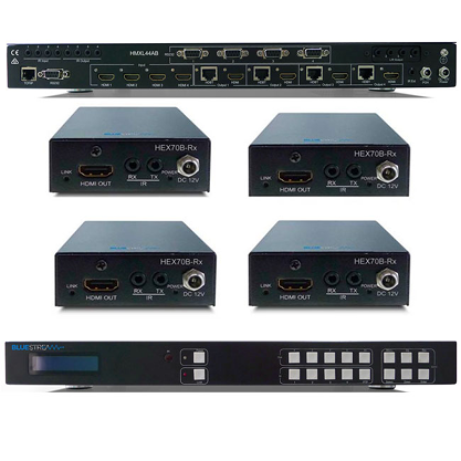 Blustream HMXL44-KIT 4x4 HDBaseT™ Matrix Kit